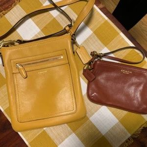 Coach crossbody bag & wristlet